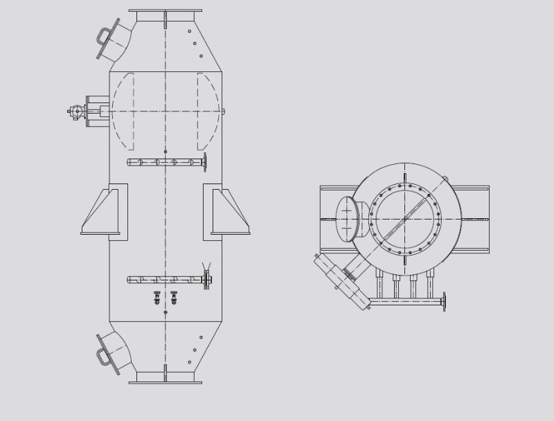 industrial boiler system exhaust